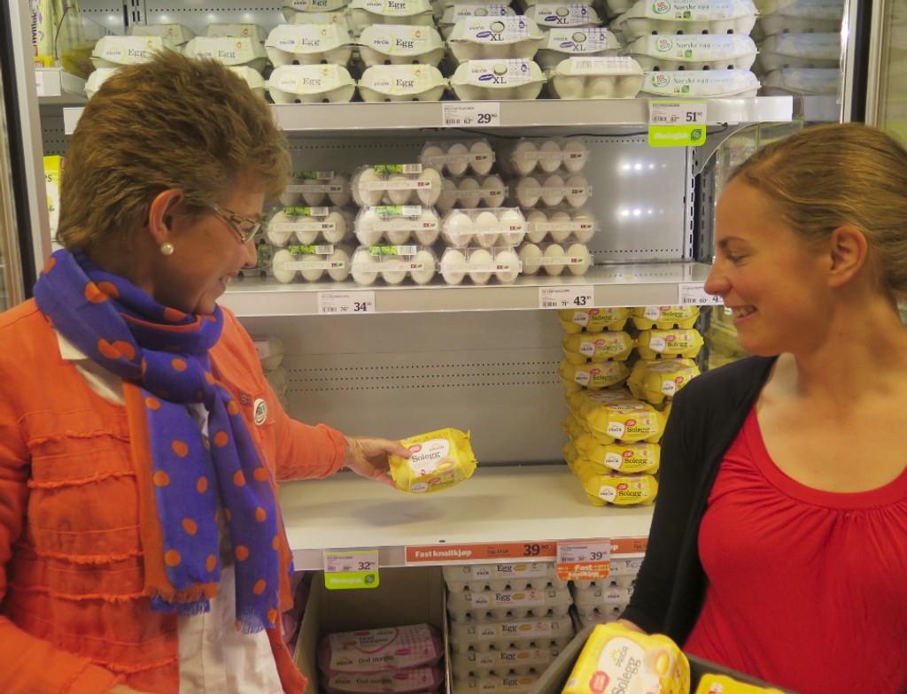 Kathrine Kleveland sitter i styret i Norges Bondelag og var torsdag ute for å tømme butikkhyllene i Oslo.