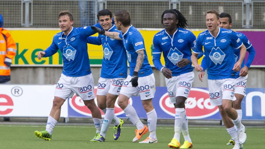 Moldes farlige angriper Fredrik Gulbrandsen (til venstre) er en av spillerne som må stå over fredagens runde i Tippeligaen.