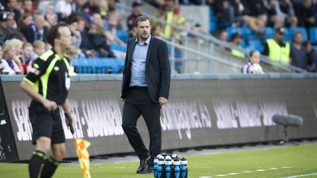 GREIT FORNØYD: VIF-trener Kjetil Rekdal ville gjerne beholdt alle poengene mot Lillestrøm, men et sent mål ødela.