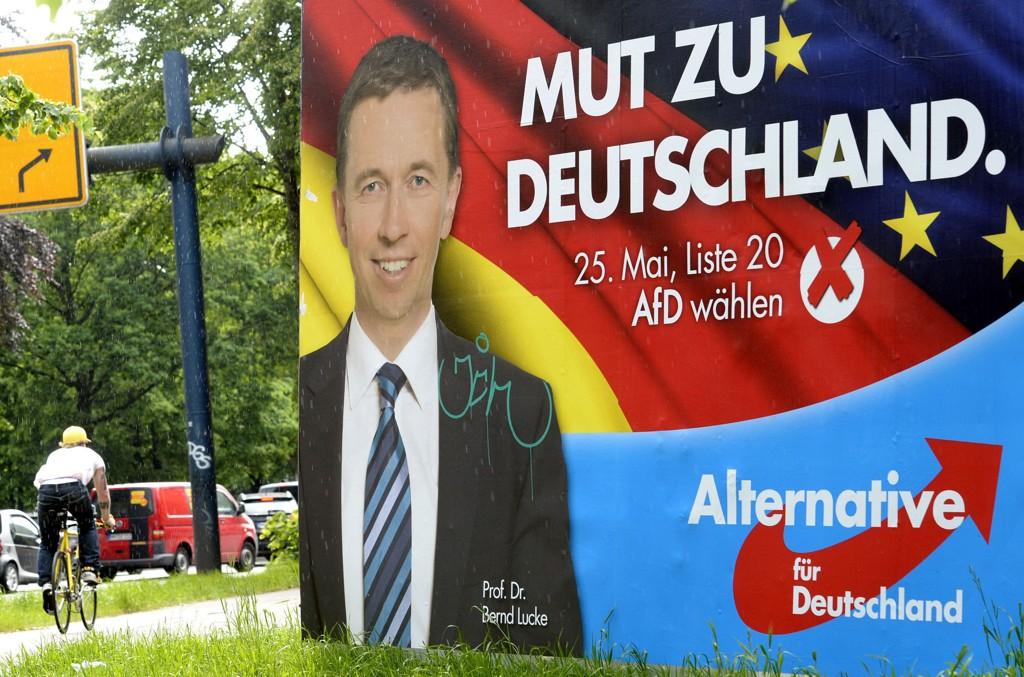 EU-VALG: Alternativ for Tyskland og toppkandidat Bernd Lucke håper på et gjennombrudd i søndagens EU-valg.