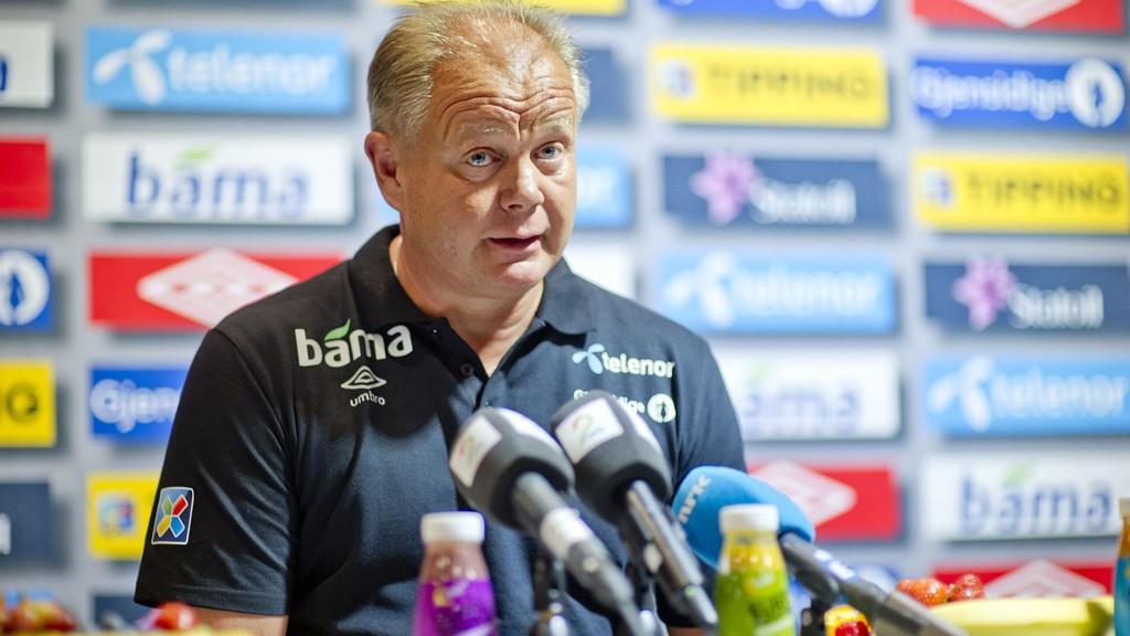 Landslagssjef Per-Mathias Høgmo slipper keepertalentet Kjetil Haug til på landslagets treninger i helgen.