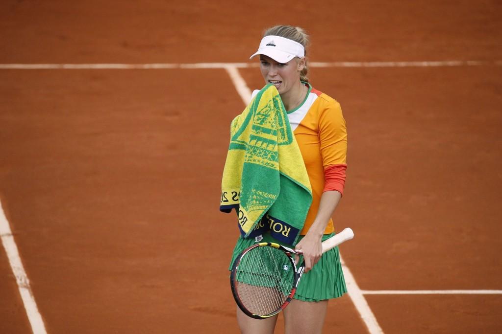 UTE: Caroline Wozniacki røk ut av første runde i Roland Garros.