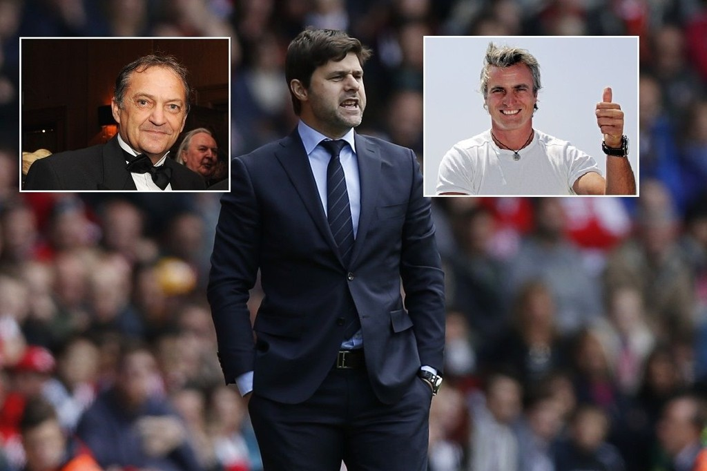 HYLLES: Gary Mabbutt og David Ginola hyller Tottenhams nye manager.