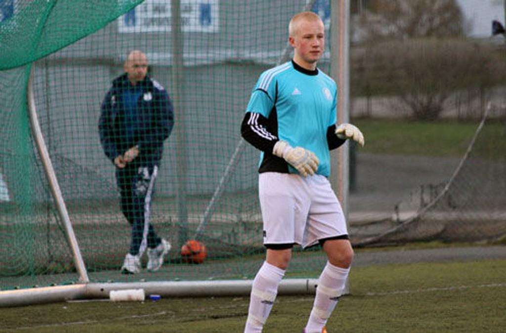 Julian Faye-Lund er tatt ut til G15 landslaget. Her er han i aksjon i debuten for Oppsal i 3. divisjon.