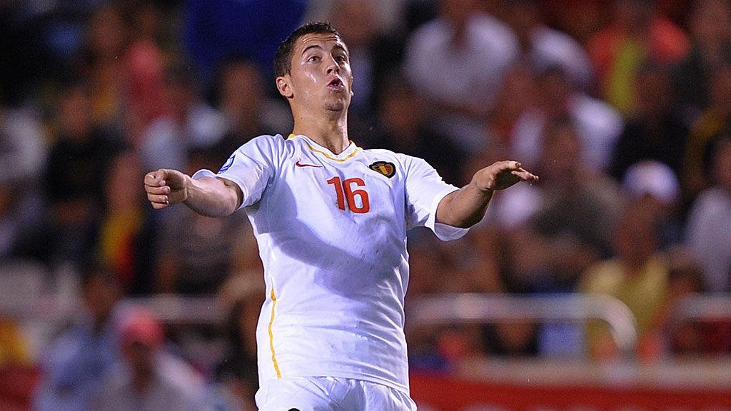 Eden Hazard er en av flere solide spillere på Belgia.