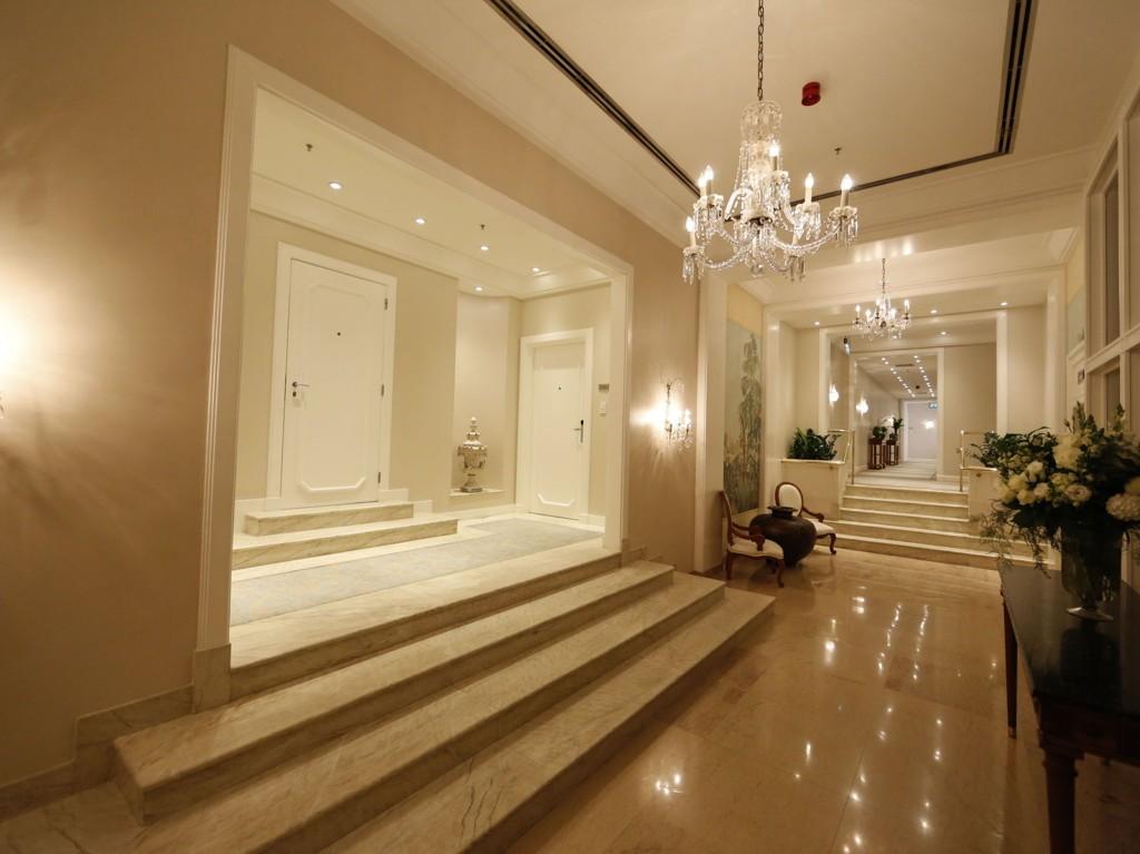 HOTELLKORRIDOR: Slik ser hotellkorridoren ut til penthouse suitene på Copacabana Palace.