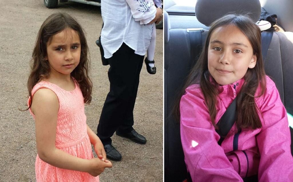 SAVNET: Somaja Dudaeva (t.h), født 2006 og Rajana Dudaeva (t.v) født 2007 ble bortført av maskerte menn da de var på vei hjem fra skolen.