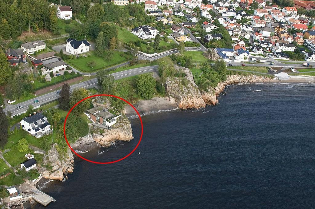 12,5 millioner: Denne eiendommen, ved Langestrand bad, skal være kjøpt av Michael Stang Treschow for 12,5 millioner kroner.
