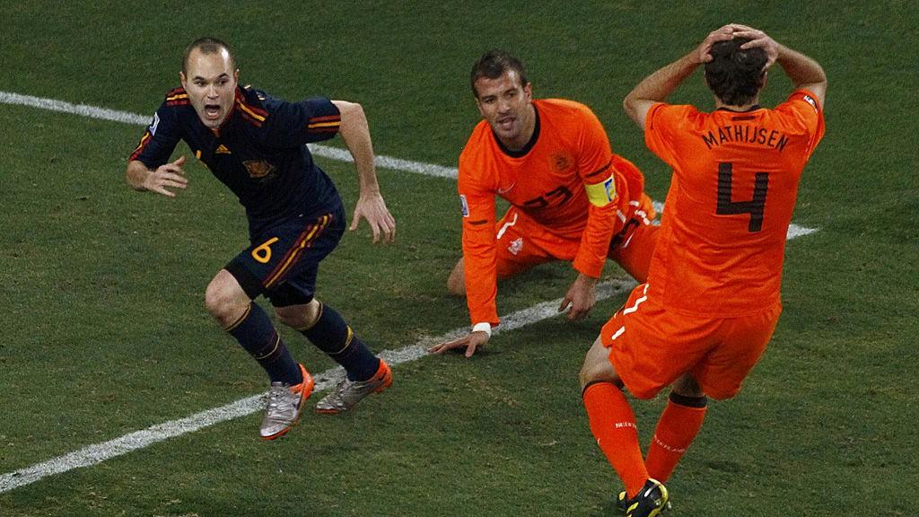 Andres Iniesta ble den store helten da Spania slo Nederland i VM-finalen for fire år siden.
