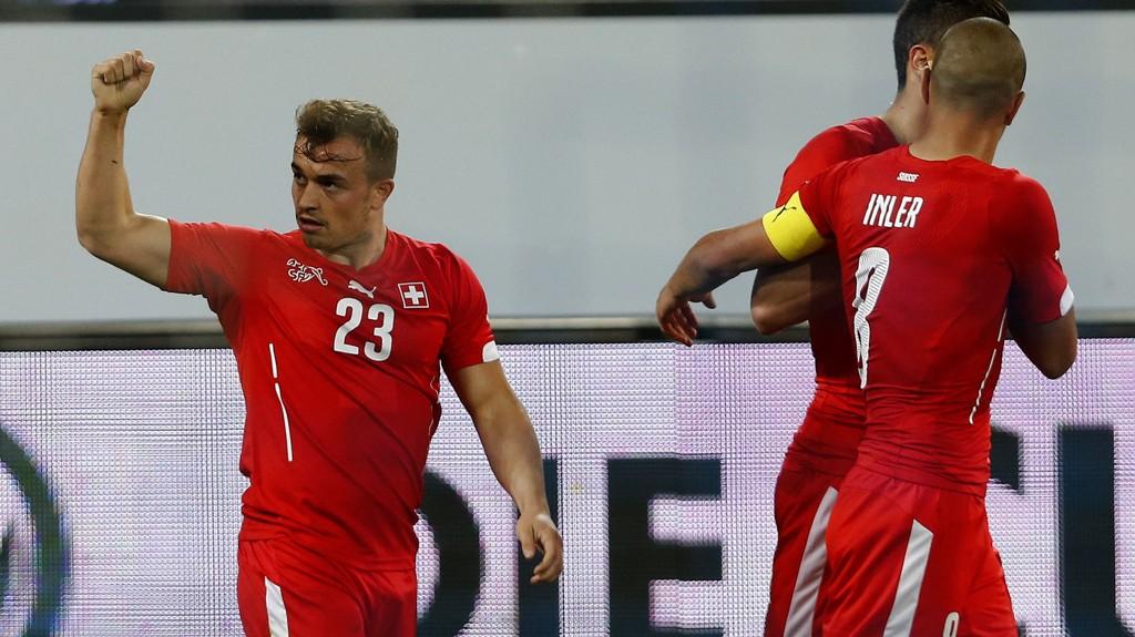 Xherdan Shaqiri, til venstre, er en attraksjon i seg selv når han er i form.