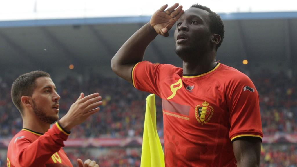 SUPERDUO: Chelsea-spillerne Romelu Lukaku og Eden Hazard er Belgias sterkeste angrepsvåpen.