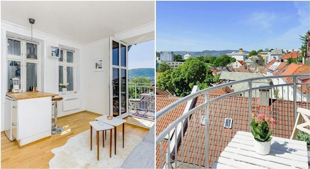 Leiligheten på 23 kvadratmeter i Steinkjellergaten gikk for 2,1 milioner kroner.