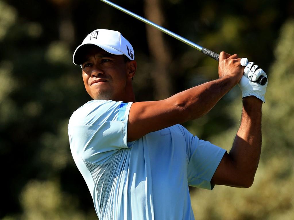 TILBAKE I TRENING: Tiger Woods er tilbake i trening etter ryggoperasjonen.