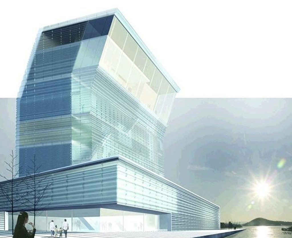 Lamda- det spansk-tegnede forslaget til nytt Much museum, tegnet av Herreros Arquitectos.