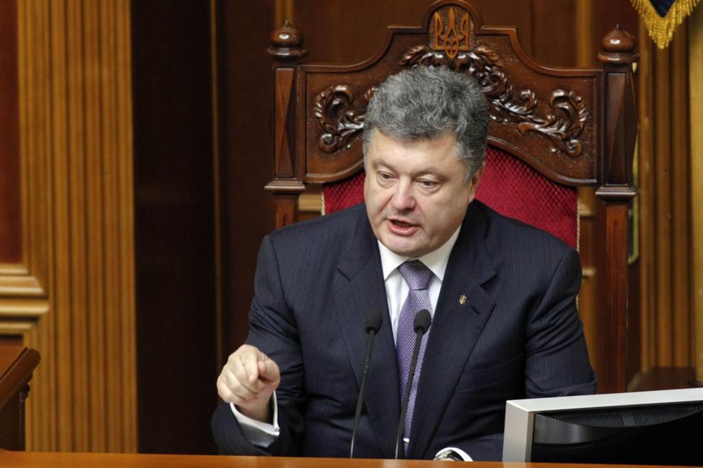 Ukrainas president Petro Porosjenko er klar for et samarbeid med EU.