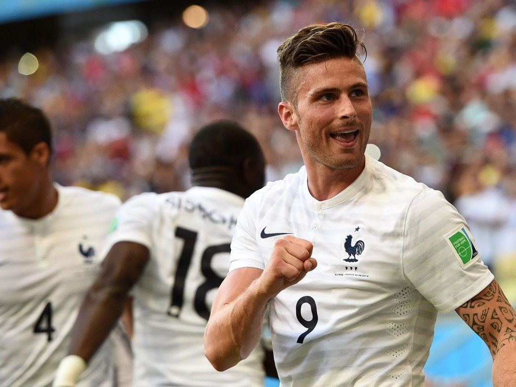 I FORM: Frankrike og Olivier Giroud kunne juble for 5-2-seier mot Sveits.