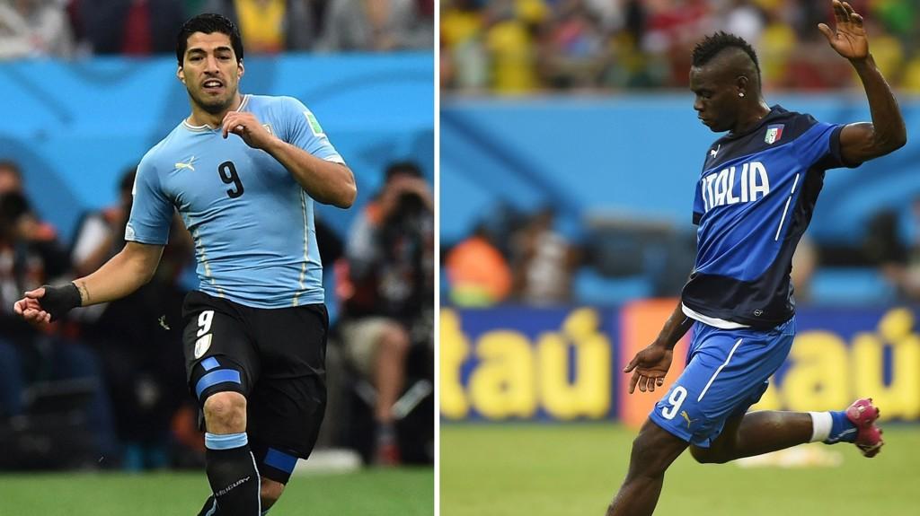 Luis Suárez senket ble den store helten da han senket England. Tirsdag ønsker han å gjør det samme mot Italia og Mario Balotelli.