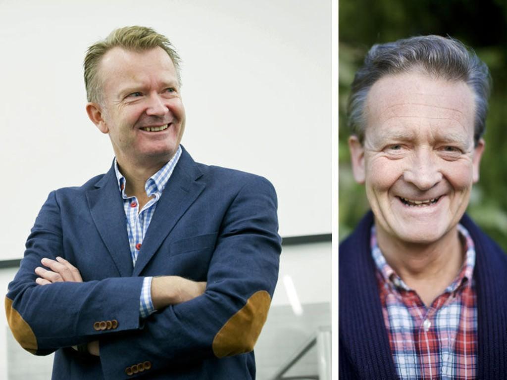 KRANGLER OM FIRST HOUSE: PR-rådgiver Rune Brynhildsen og PR-nestor Hans Geelmuyden.