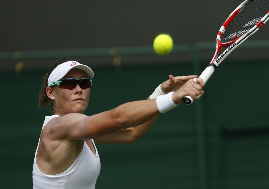 UTE: Australske Samantha Stosur er ute av Wimbledon.