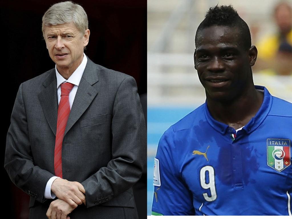 JAKTER IKKE BALOTELLI: Arsene Wenger avkrefter at Arsenal er interessert i Mario Balotelli. (Foto: NTB Scanpix, Yves Herman, Reuters)