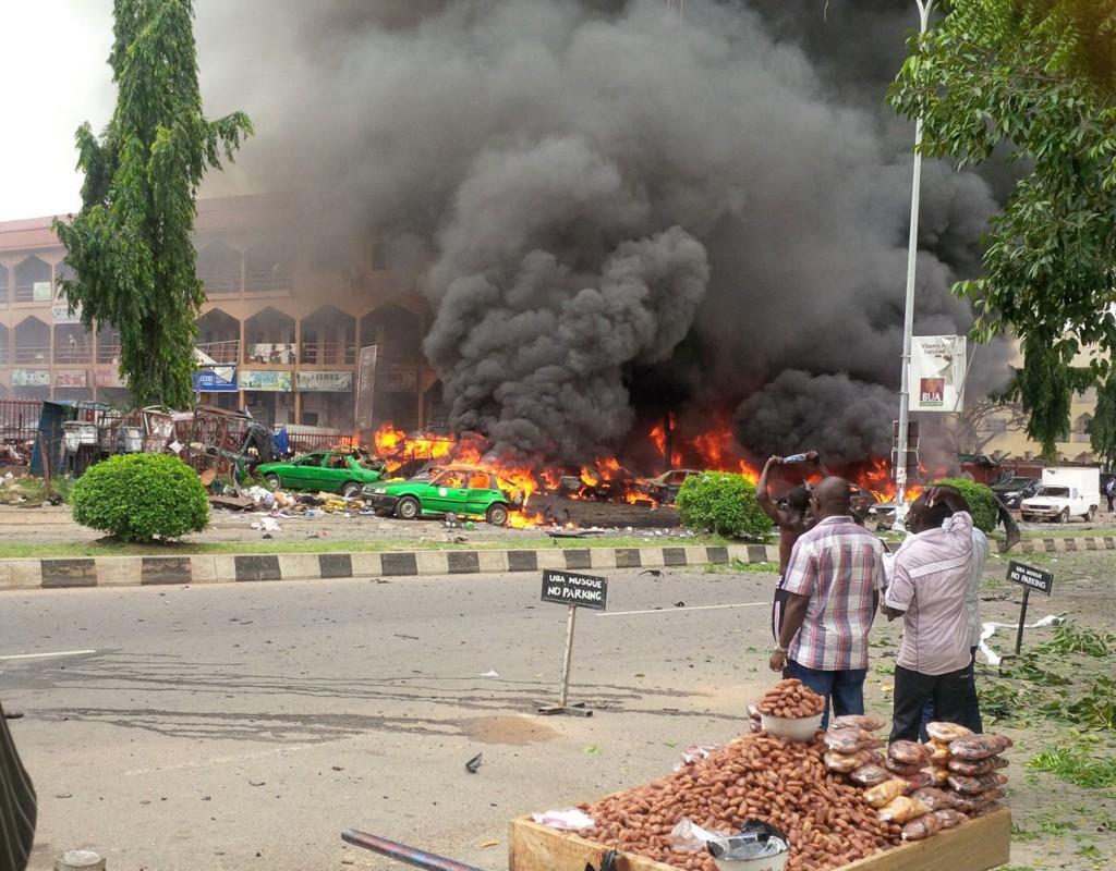 EKSPLOSJON: Nigerias hovedstad Abuja onsdag. Byen har tidligere blitt angrepet av islamistgruppa Boko Haram flere ganger.