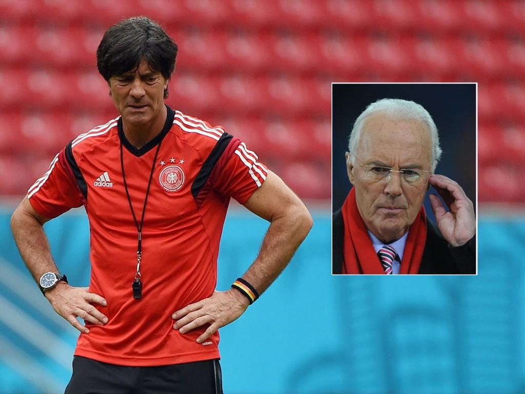 FÅR SÅ HATTEN PASSER: Franz Beckenbauer kritiserer Joachim Löw og Tyskland kun timer før skjebnekampen mot USA.
