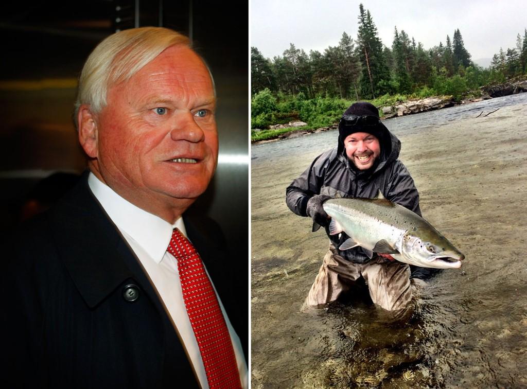 Fisker Even Aas-Eng (til høyre) er forbannet over at Marine Harvest, med John Fredriksen som største eier, har laget skrytevideo fra Vosso-vassdraget.