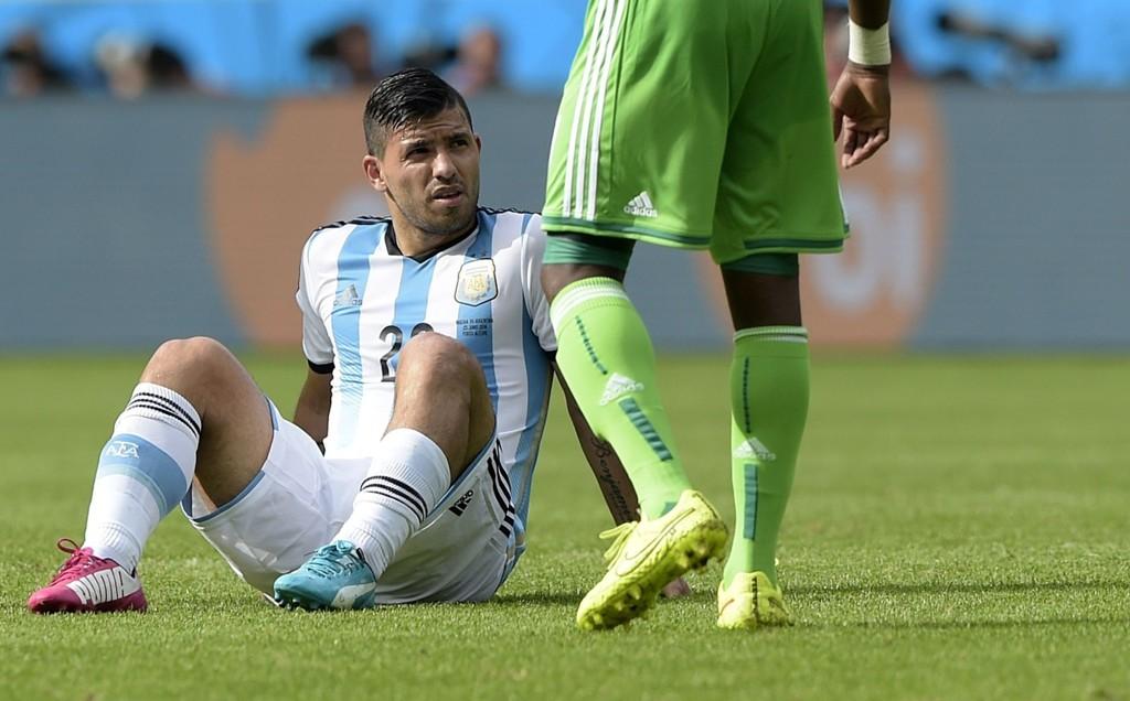 SKADET: Sergio Agüero kan miste resten av VM.