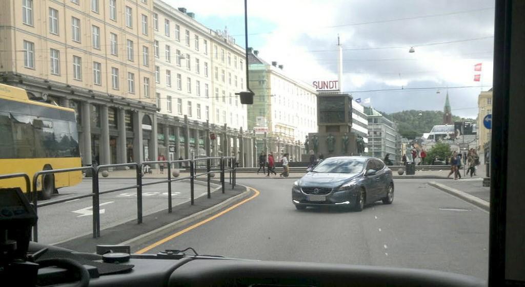 VELDIG FEIL: Her er bilisten på vei i veldig feil retning.