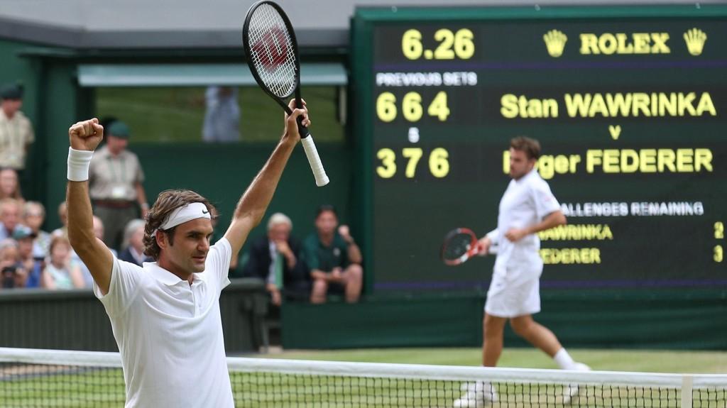 VANT: Roger Federer.