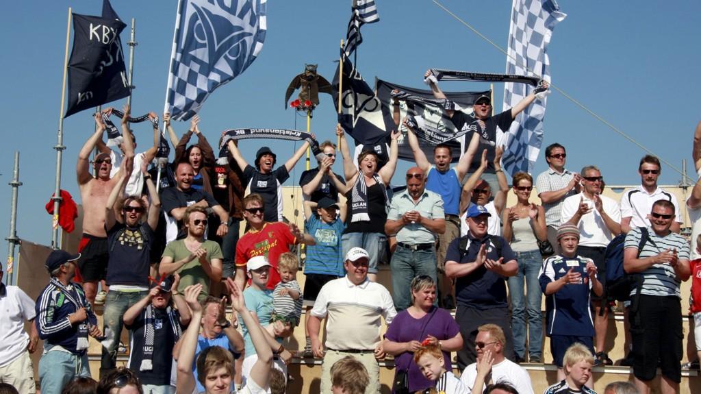 Illustrasjonsbilde fra 2008, der Kristiansund nettopp har slått RBK i cupen.