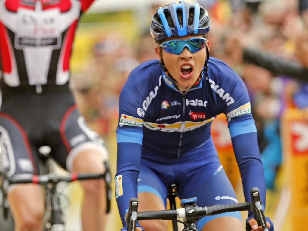 PÅ PALLEN: Odd Christian Eiking endte som nummer to sammemnlagt i U23-rittet Giro Valle d'Aosta.