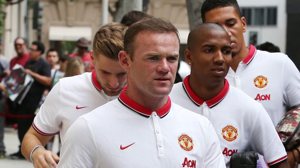 I USA: Wayne Rooney og de andre United-stjernene forbereder seg til en ny sesong gjennom treninger og kamper i USA.