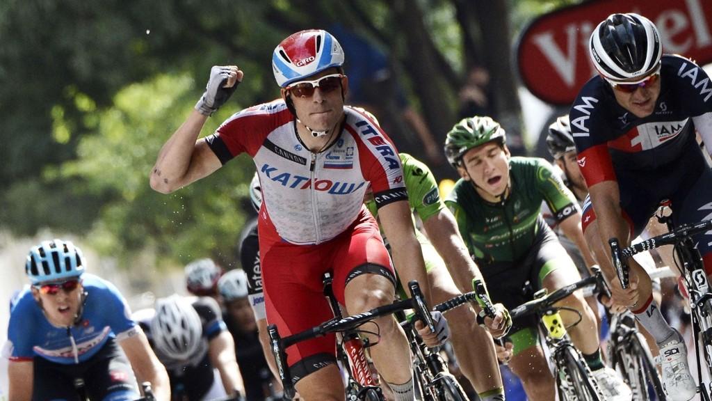 NUMMER TRE? Alexander Kristoff kan vinne fredagens etappe. Det vil i så fall bli hans tredje seier i Tour de France.