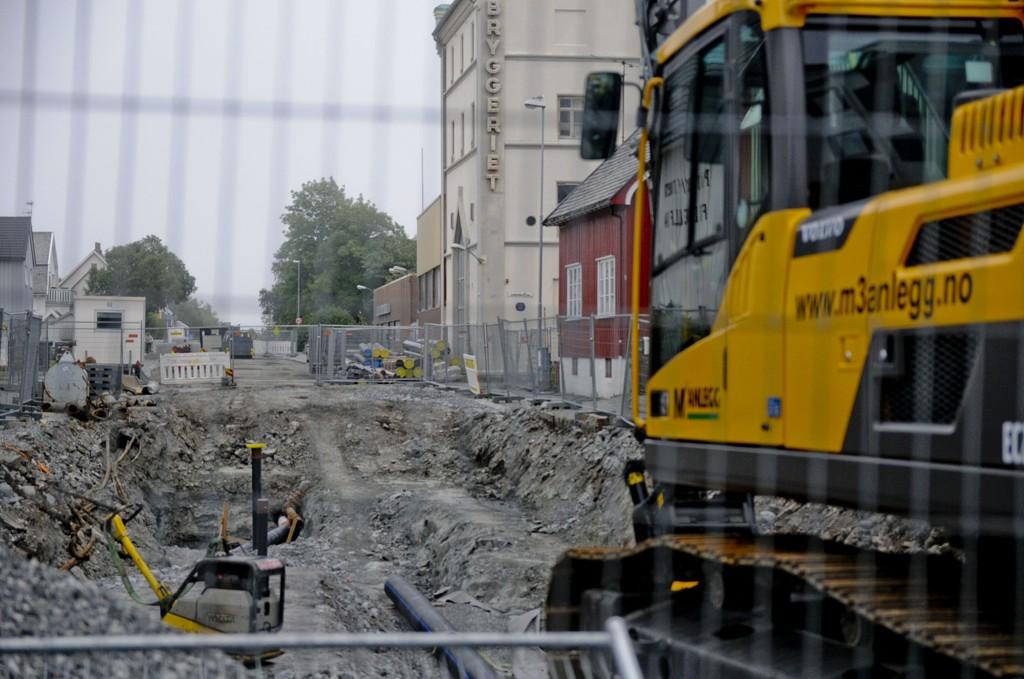 Bankgata mellom Parkveien og Sivert Nielsens gate i Bodø er stengt.