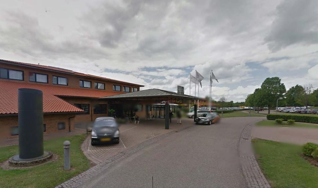 FUNNET: Her ved dette hotellet i Danmark ble den 44 år gamle mannen funnet.