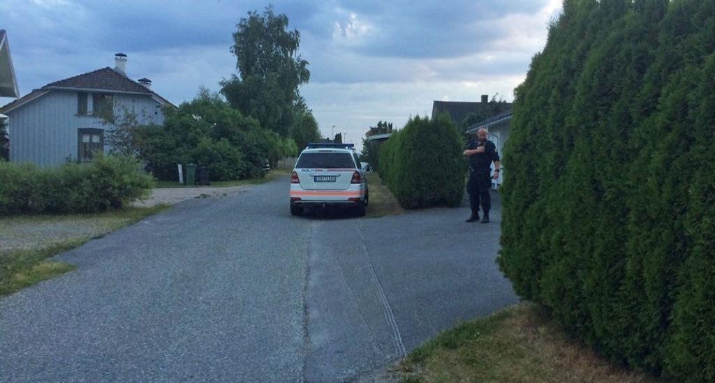 En mann er pågrepet og siktet for å ha ranet en 78 år gammel kvinne med ljå i Porsgrunn lørdag kveld.