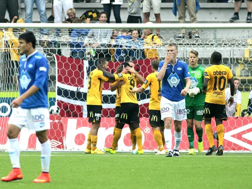 UTLIGNET: Starts Espen Hoff sørget for at kampen mot serieleder Molde endte 1-1.