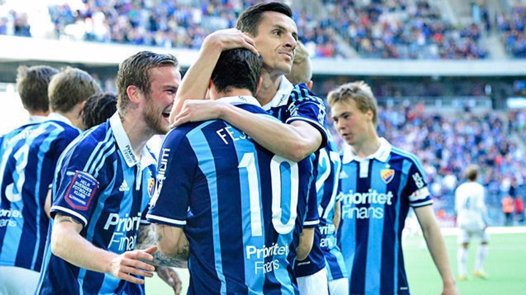 Djurgården-fansen har hatt lite å juble for på hjemmebane i år. Her fra hjemmeseieren mot Brommapojkarna tidligere i år.
