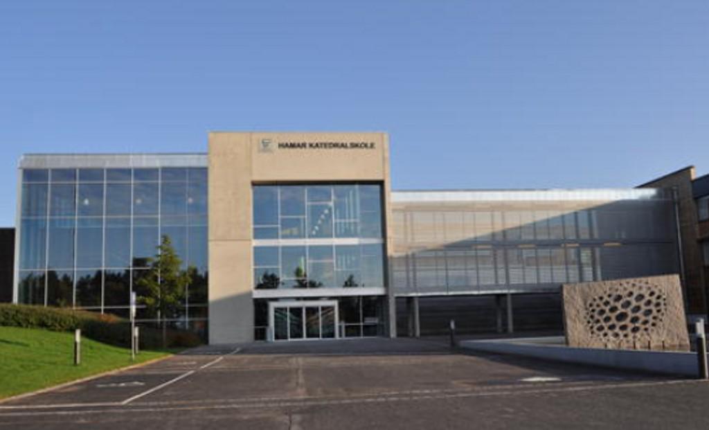 RAMMES: Hamar katedralskole er en av skolene som er tatt ut i streik.