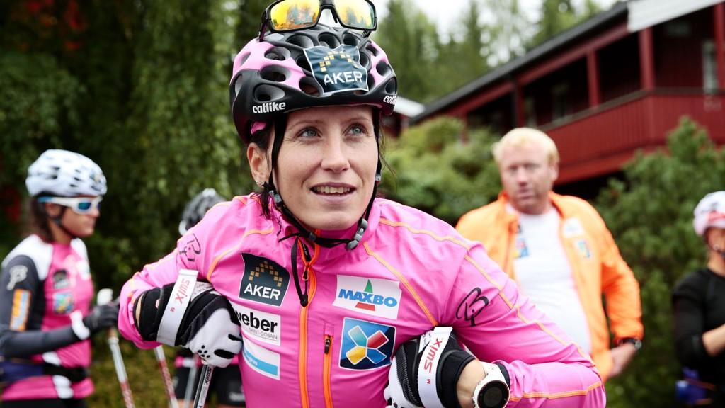 FOR VARMT: - Det har vært litt for varmt, det må jeg innrømme, sier Marit Bjørgen om årets sommer.