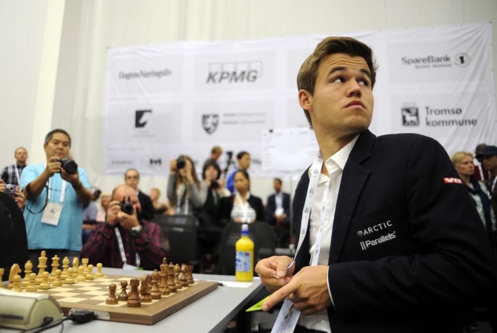 REMIS: Magnus Carlsen klarte ikke å overliste verdenstoer Levon Aronian.