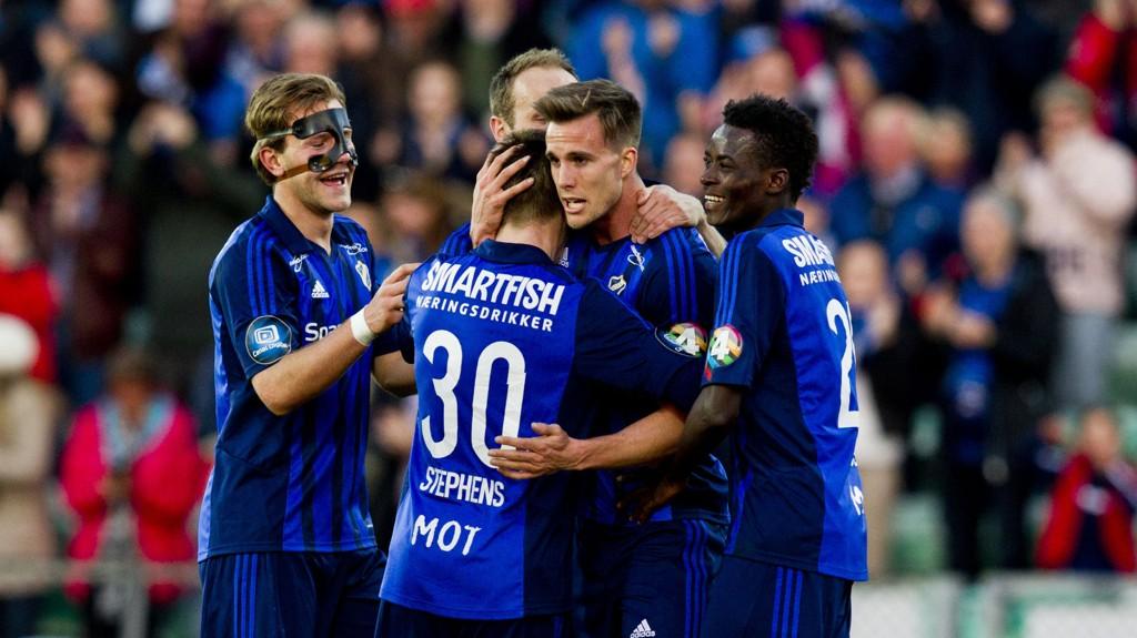 Fredrik Brustad (i midten) og Franck Boli er trolig Tippeligaens raskeste spisspar.