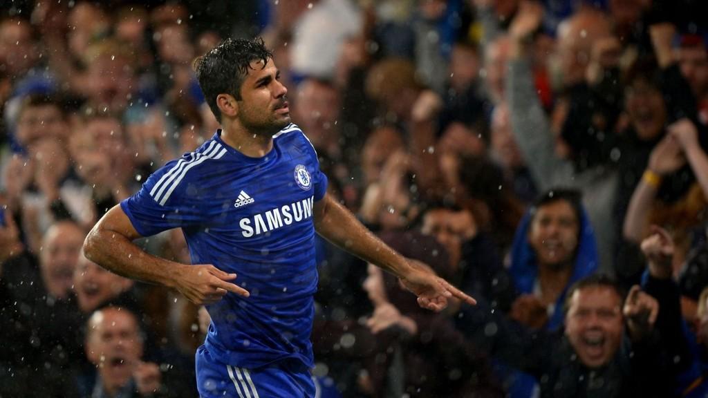 Diego Costa kunne juble for flere mål på Stamford Bridge tirsdag kveld.