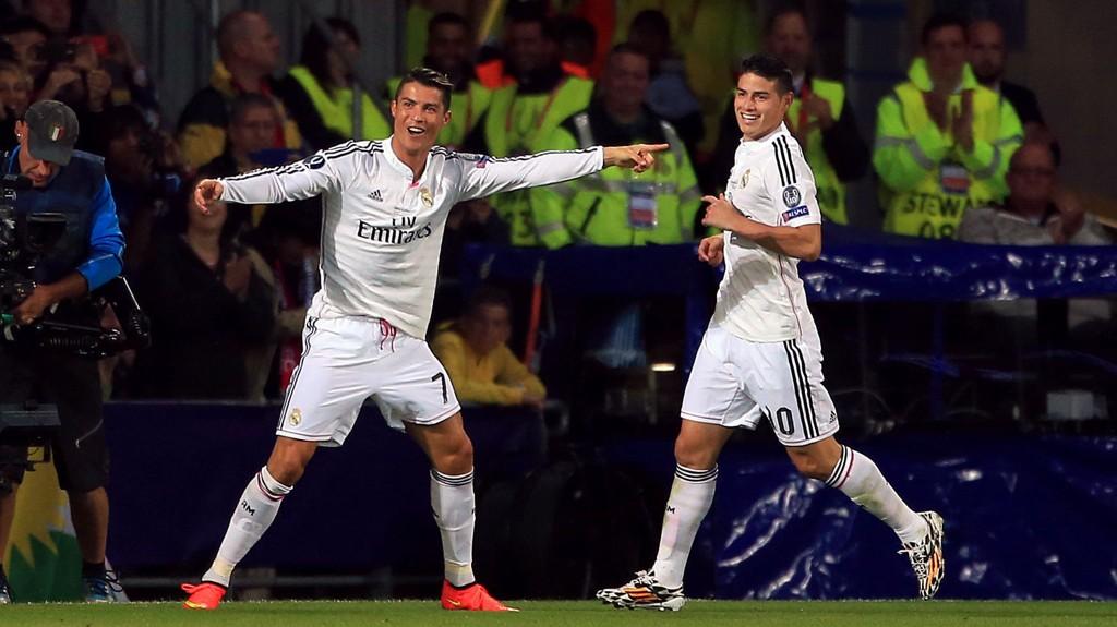 SCORET TO: Cristiano Ronaldo kunne juble for to mål mot Sevilla.