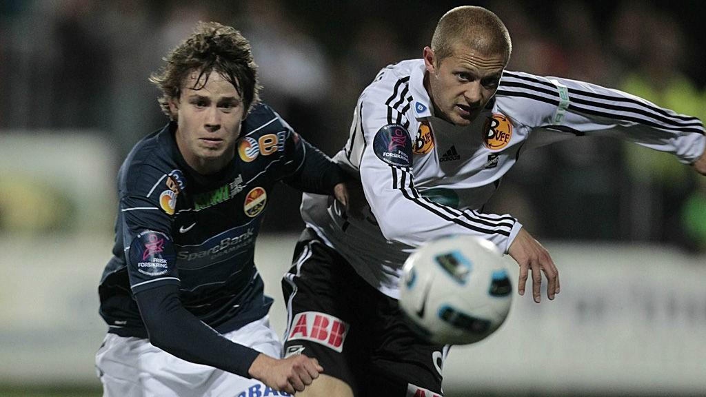 Lars Christopher Vilsvik (til venstre) er én av tre faste Strømsgodset-forsvarere som er skadet.