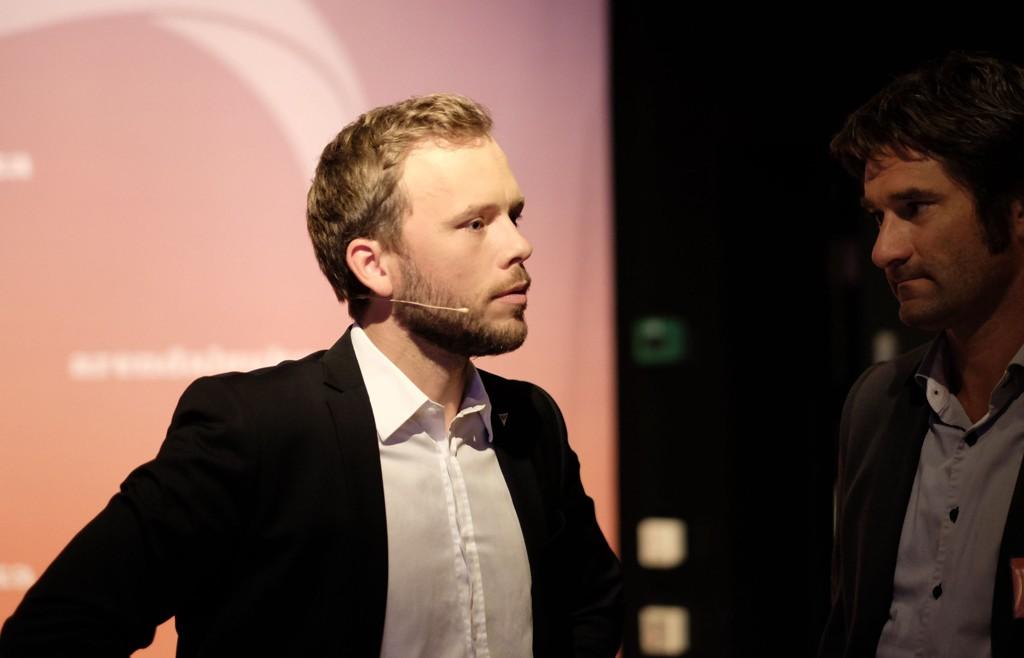 SV-leder Audun Lysbakken SV i debatt under Arendalsuka.