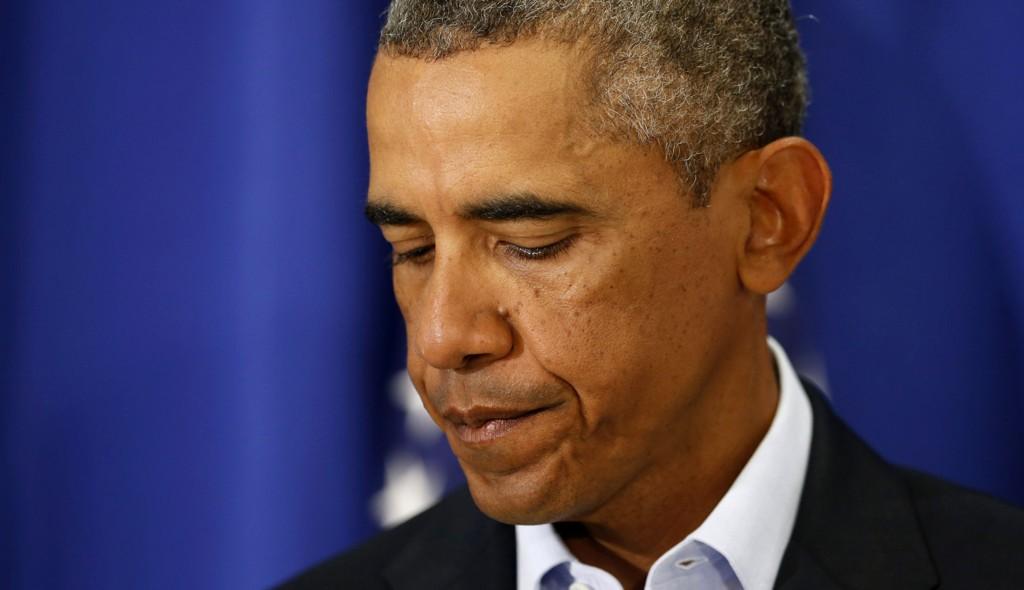 FORDØMMER: USAs president Barack Obama uttalte seg onsdag om drapet på den amerikanske journalisten James Foley. Foto: NTB scanpix
