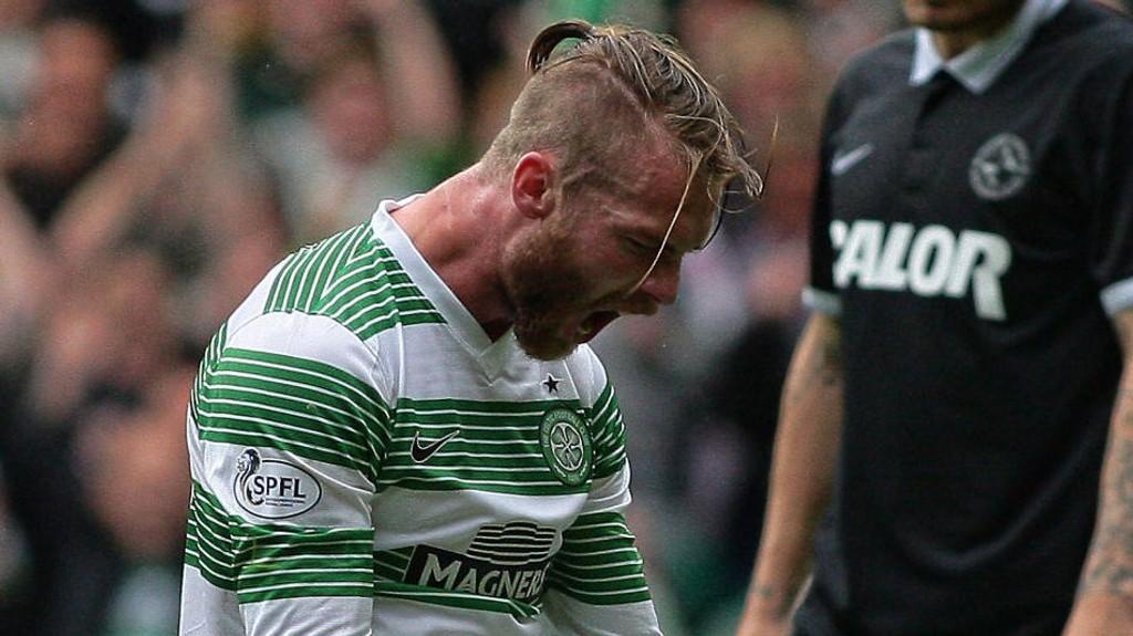 FREMGANG: Jo Inge Berget føler han har vist fremgang i de siste kampene for Celtic.