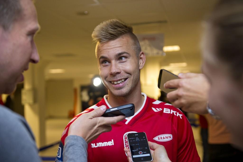 Marcus Pedersen var fornøyd etter Tippeliga-debuten for Brann.